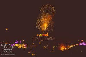 La vista dalla terrazza nella notte di Capodanno - Foto Top Six Club