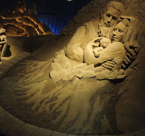 Il Presepe di Sabbia a Lignano e la magia del Natale al mare