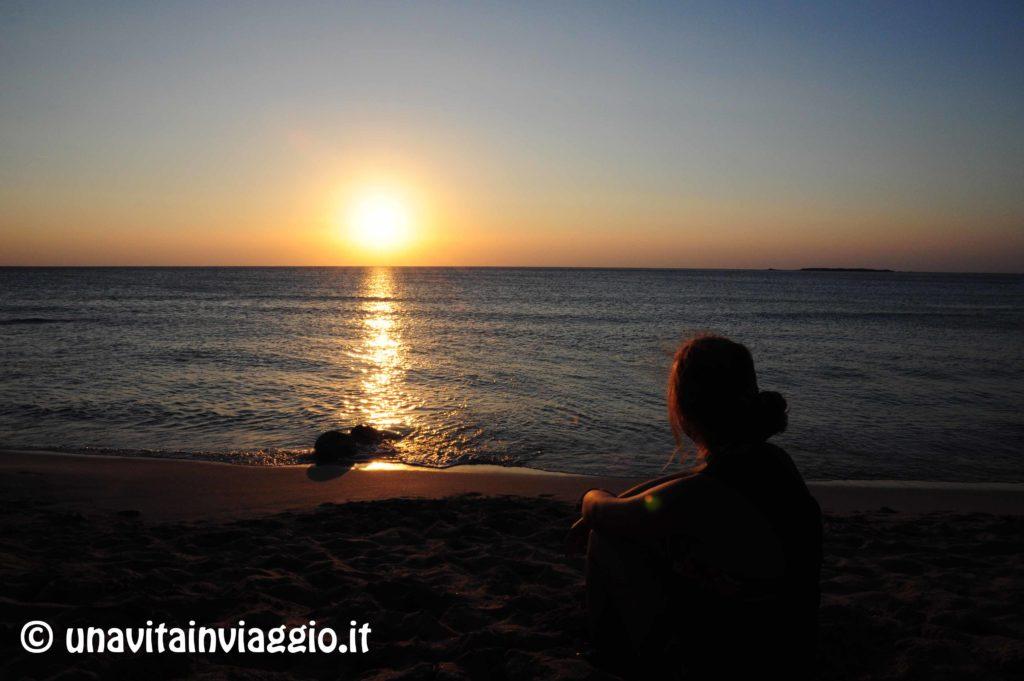 Isola di Creta: tramonto a Falasarna