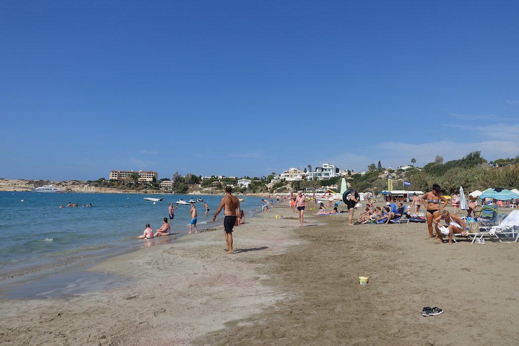 La spiaggia di Coral Bay a Cipro